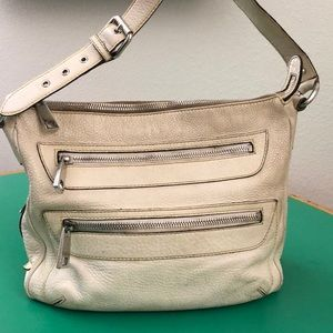 Marc Jacobs Cream Colored Leather Large Bag